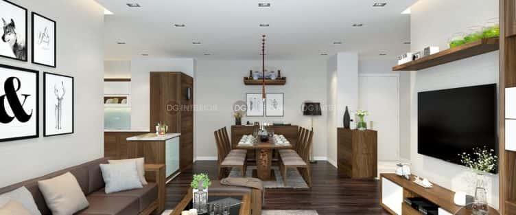 Thiết kế nội thất phòng khách liền bếp với 20 mẫu ấn tượng nhất
