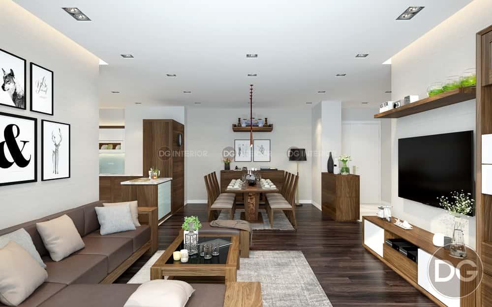 thiet ke noi that phong khach lien bep 2 - Thiết kế nội thất phòng khách liền bếp với 20 mẫu ấn tượng nhất