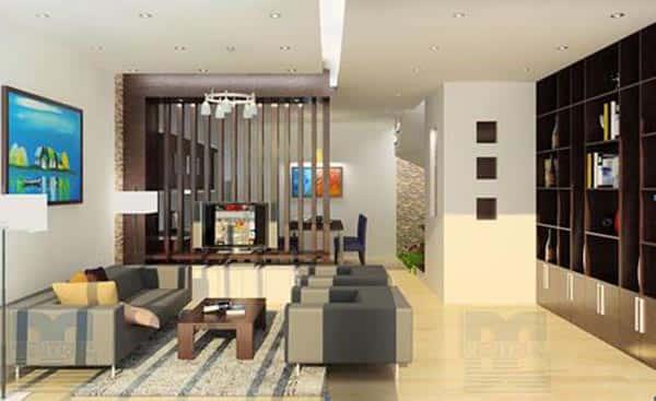 """thiet ke noi that phong khach lien bep 5 - Thiết kế nội thất phòng khách 25m2 với 20 mẫu """"ngon, bổ, rẻ"""" nhất"""