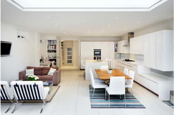 thiet ke noi that phong khach lien bep 9 - Thiết kế nội thất phòng khách liền bếp với 20 mẫu ấn tượng nhất