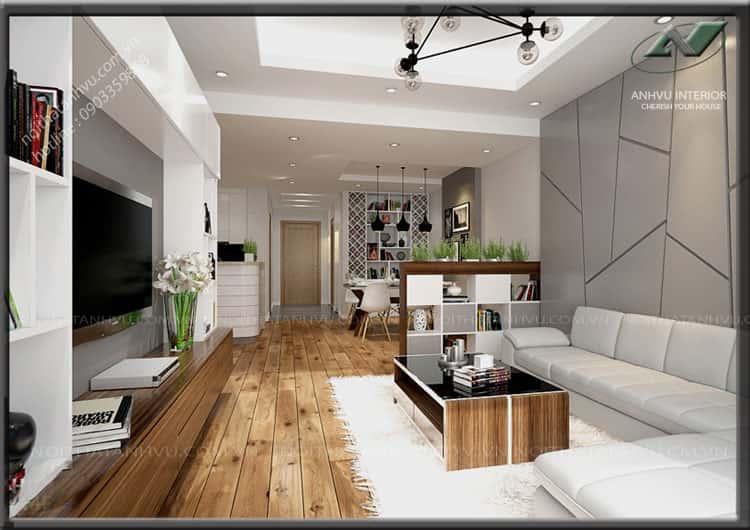 """thiet ke noi that phong khach nho 10 - Thiết kế nội thất phòng khách 25m2 với 20 mẫu """"ngon, bổ, rẻ"""" nhất"""
