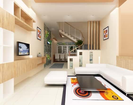 thiet ke noi that phong khach nho 13 - Thay đổi không gian hẹp với 15 mẫu nội thất phòng khách nhà ống