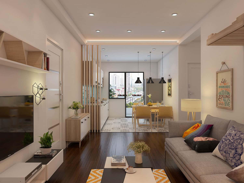 thiet ke noi that phong khach nho 14 - Thay đổi không gian hẹp với 15 mẫu nội thất phòng khách nhà ống
