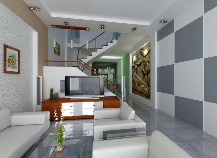 thiet ke noi that phong khach nho 15 - Thay đổi không gian hẹp với 15 mẫu nội thất phòng khách nhà ống