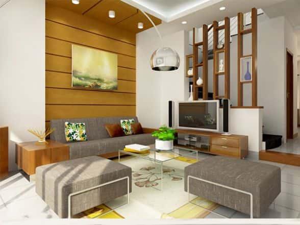 thiet ke noi that phong khach nho 4 - Thay đổi không gian hẹp với 15 mẫu nội thất phòng khách nhà ống