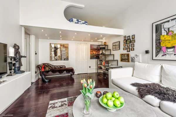 thiet ke noi that phong khach nho 6 - Thay đổi không gian hẹp với 15 mẫu nội thất phòng khách nhà ống