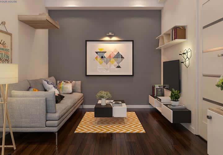 thiet ke noi that phong khach nho 7 - Thiết kế nội thất phòng khách nhỏ với 5 bí quyết đơn giản tại nhà