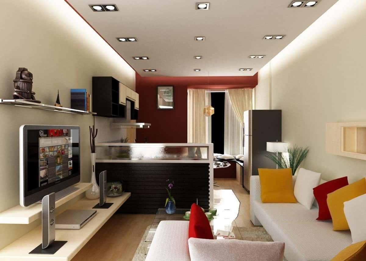 thiet ke noi that phong khach nho 8 - Thiết kế nội thất phòng khách đẹp