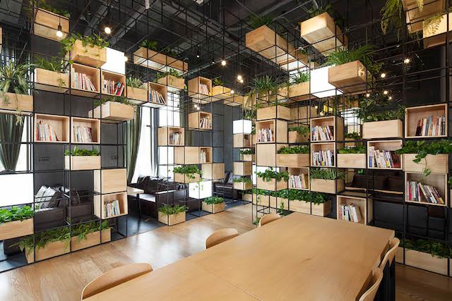 thiet ke noi that van phong khong gian xanh - Thiết kế nội thất văn phòng đẹp