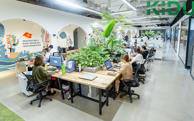 thiet ke noi that van phong xanh đẹp - Thiết kế nội thất văn phòng đẹp