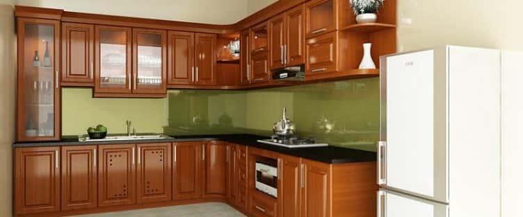 10 mẫu tủ bếp gỗ xoan bắc đẹp giá tầm 25 triệu