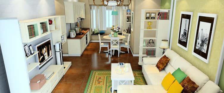 10 mẫu phòng khách liên thông với bếp đẹp ăn khách nhất hiện nay