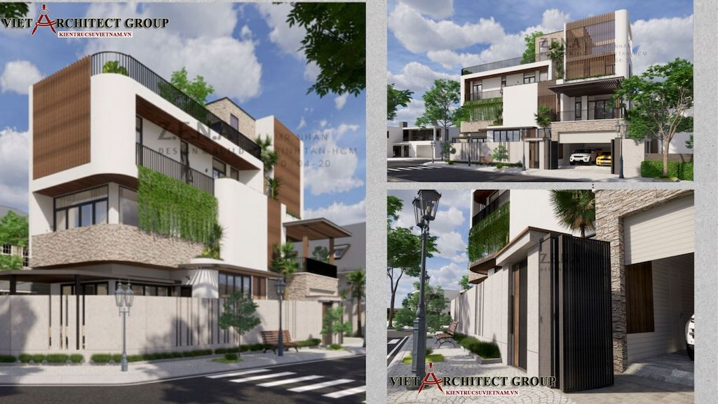 3.5 TỶ TRỌN GÓI - Công trình thiết kế và thi công nhà lô góc phố 2 mặt tiền Mr Nhân - Tân Phú