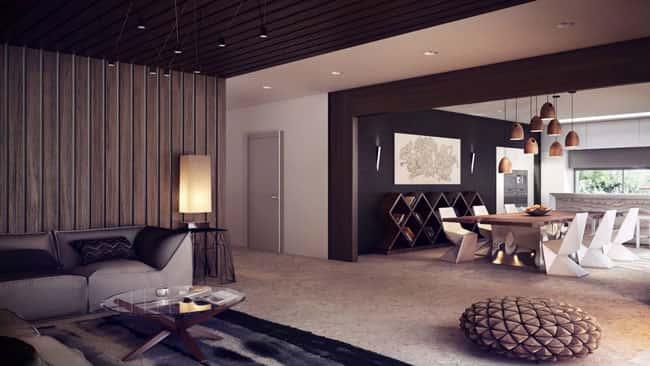 3 - 10 Cách trangtrí tường phòng khách bằng gỗ không thể bỏ qua