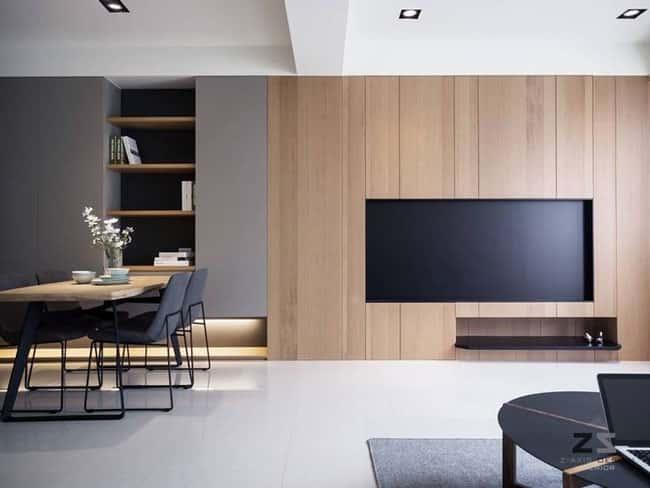 5 - 10 Cách trangtrí tường phòng khách bằng gỗ không thể bỏ qua