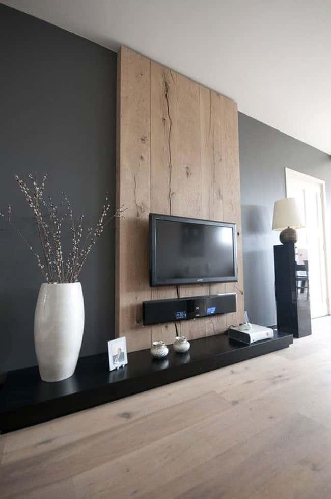 6 - 10 Cách trangtrí tường phòng khách bằng gỗ không thể bỏ qua