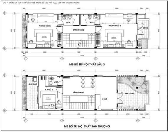Ban ve thiet ke nha 3 tang - Thiết kế nhà 3 tầng đẹp