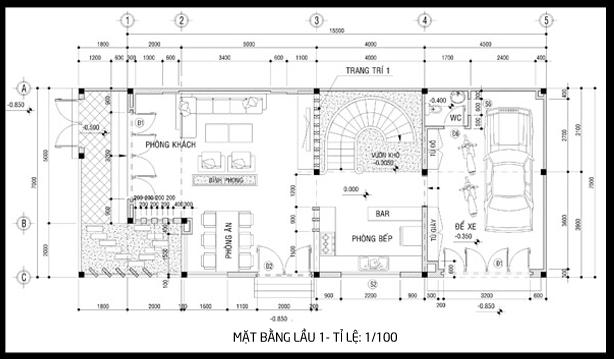 bản vẽ biệt thự 3 tầng 3 - 100 mẫu biệt thự 3 tầng hiện đại đẹp nhất 2018