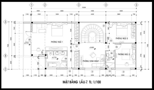 bản vẽ biệt thự 3 tầng 4 - 100 mẫu biệt thự 3 tầng hiện đại đẹp nhất 2018