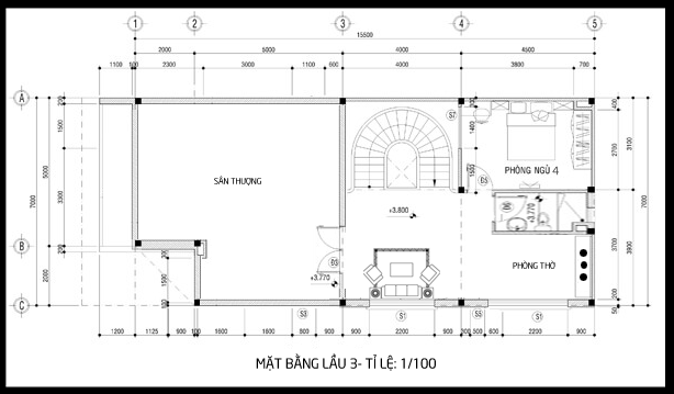 bản vẽ biệt thự 3 tầng 5 - 100 mẫu biệt thự 3 tầng hiện đại đẹp nhất 2018