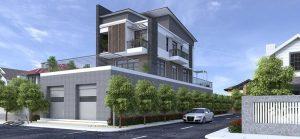 biệt thự 2 tầng 2 mặt tiền 4 300x139 - 100 mẫu biệt thự 3 tầng hiện đại đẹp nhất 2018