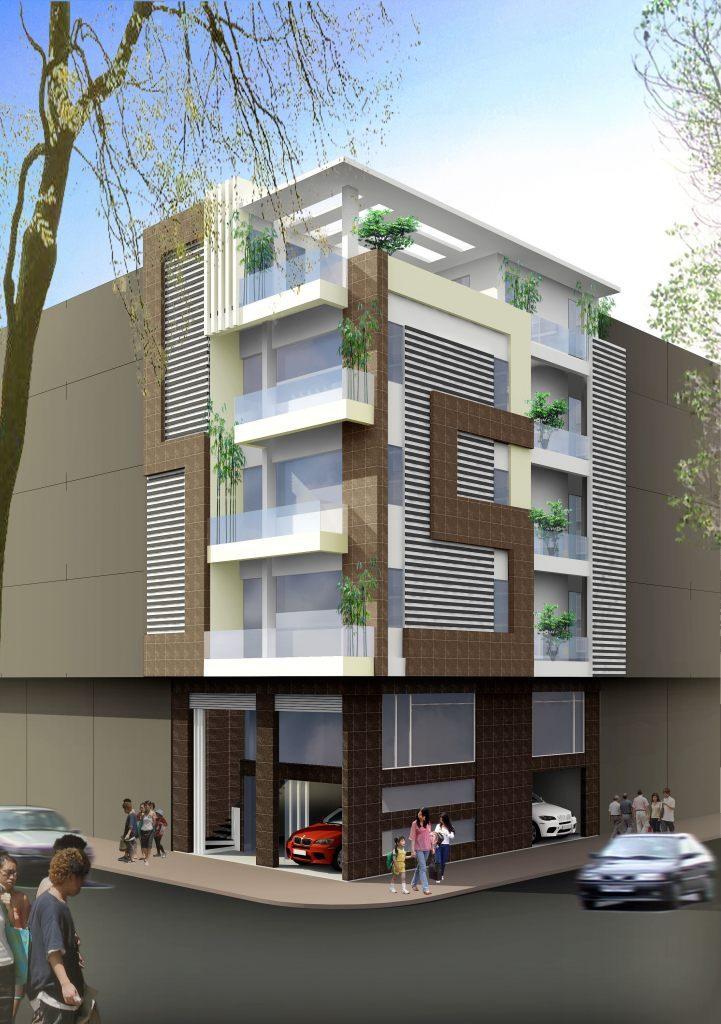 biệt thự 5 tầng 14 721x1024 - Thiết kế nhà 5 tầng đẹp