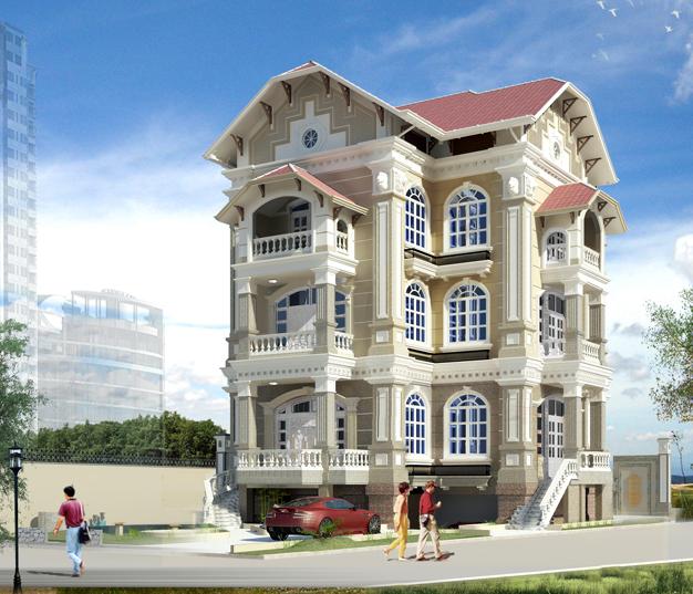 biệt thự 5 tầng 18 - Thiết kế biệt thự cổ điển đẹp