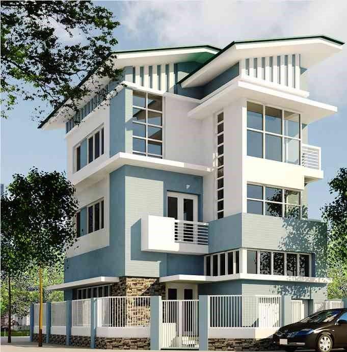 biệt thự 5 tầng 6 - 20 mẫu biệt thự 5 tầng đẹp đa phong cách