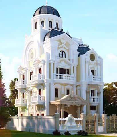 biet thu lau dai 3 - Các dự án thiết kế lâu đài đẹp đã thực hiện