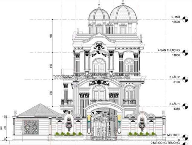biet thu lau dai dep - Các dự án thiết kế lâu đài đẹp đã thực hiện