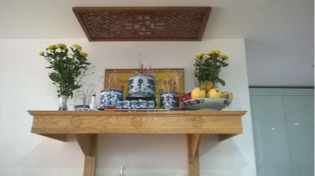 bvccc - Bàn thờ treo tường phòng khách