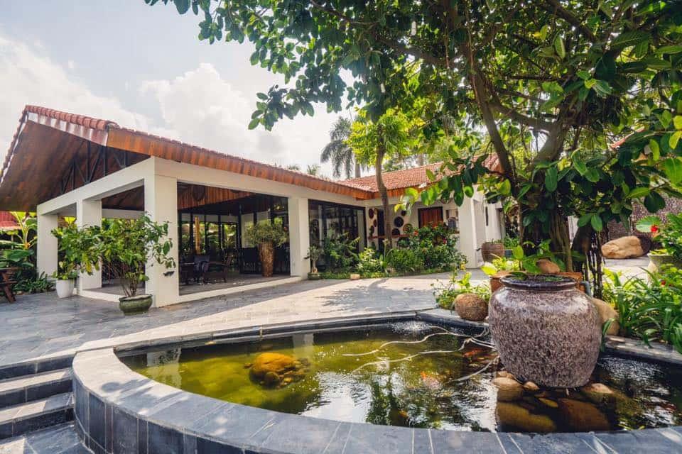 cafe san vuon - Thiết kế biệt thự 1 tầng đẹp