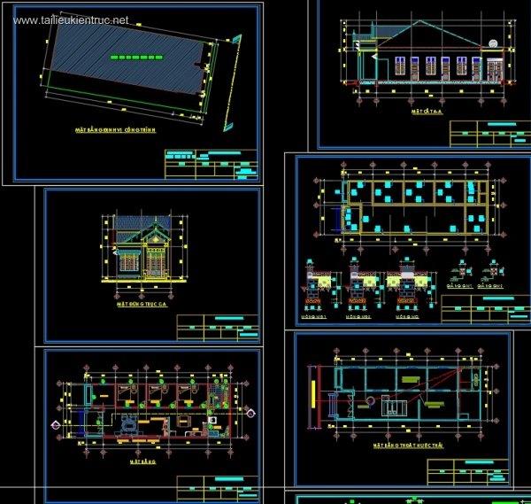 hồ sơ mẫu thiết kế nhà 1 tầng - Thiết kế nhà 1 tầng đẹp