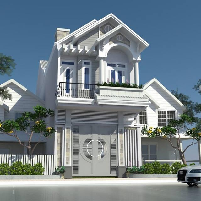 mẫu nhà phố 2 tầng 2 - Tổng hợp 4 mẫu nhà phố 2 tầng đẹp tối ưu công năng