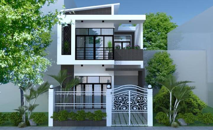 mẫu nhà phố 2 tầng 3 - Tổng hợp 4 mẫu nhà phố 2 tầng đẹp tối ưu công năng