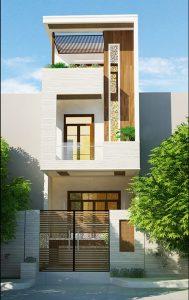thiết kế nhà 2 tầng mặt tiền 3m