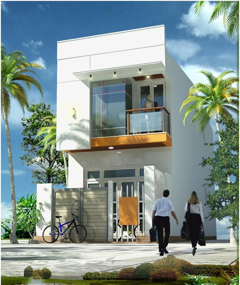 mẫu nhà phố 2 tầng 5 - Bộ sưu tập những mẫu thiết kế nhà đẹp 5x20m