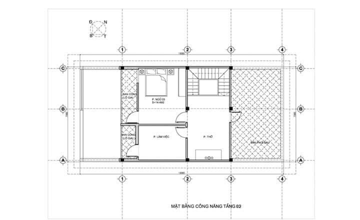 mẫu nhà phố 2 tầng 7x15m 1 - Tổng hợp 4 mẫu nhà phố 2 tầng đẹp tối ưu công năng