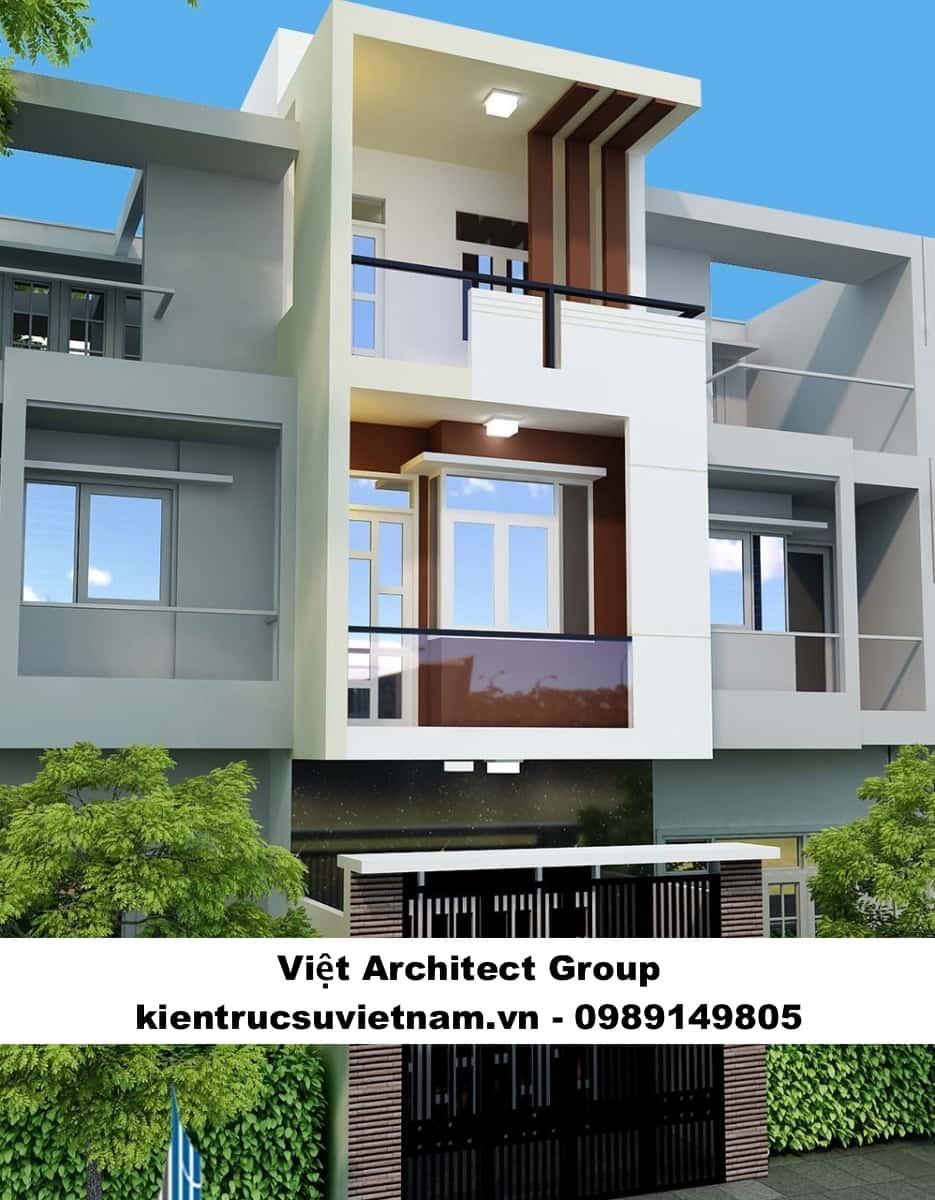 mau nha 3 tang viet architect group - Thiết kế nhà 3 tầng đẹp