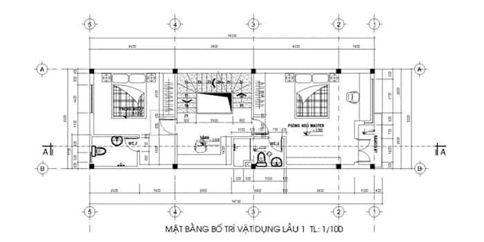 mau nha pho 2 tang 5x15 1 - Tổng hợp 4 mẫu nhà phố 2 tầng đẹp tối ưu công năng