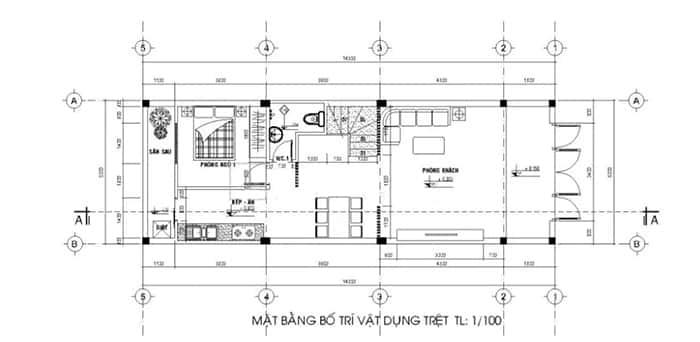 mau nha pho 2 tang 5x15 2 - Tổng hợp 4 mẫu nhà phố 2 tầng đẹp tối ưu công năng