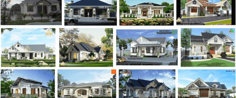 Các dự án thiết kế nhà 1 tầng đẹp đã thực hiện