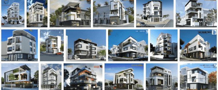 Thiết kế nhà 2 mặt tiền góc phố đẹp ấn tượng với phong cách hiện đại