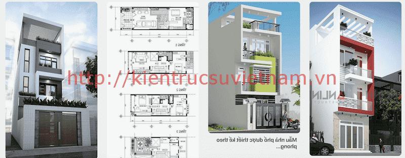 nha dep 3 tang 1 - Bản vẽ cad thiết kế nhà phố 3 tầng diện tích 5x8 lệch tầng