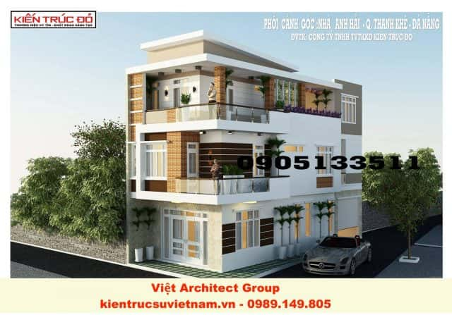 nha pho 2 mat tien dep e1569814666683 - Thiết kế biệt thự hiện đại
