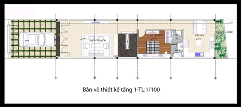 nha pho 2 tang 4x20m 2 - Tổng hợp 4 mẫu nhà phố 2 tầng đẹp tối ưu công năng
