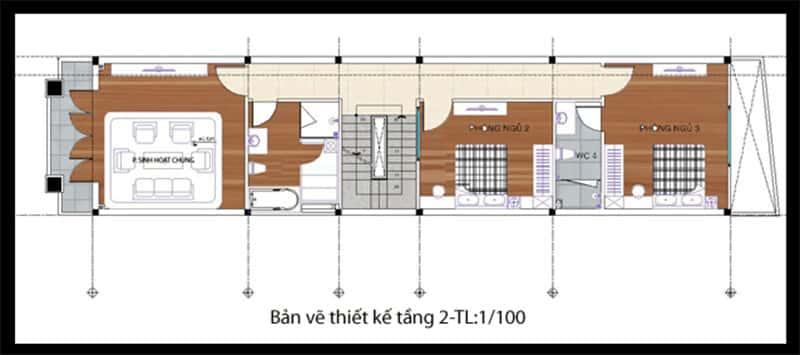 nha pho 2 tang 4x20m 3 - Tổng hợp 4 mẫu nhà phố 2 tầng đẹp tối ưu công năng