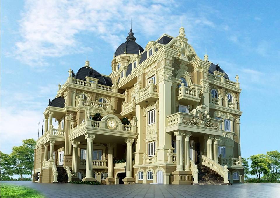 thiết kế biệt thự cổ điển 11 - Thiết kế biệt thự cổ điển đẹp