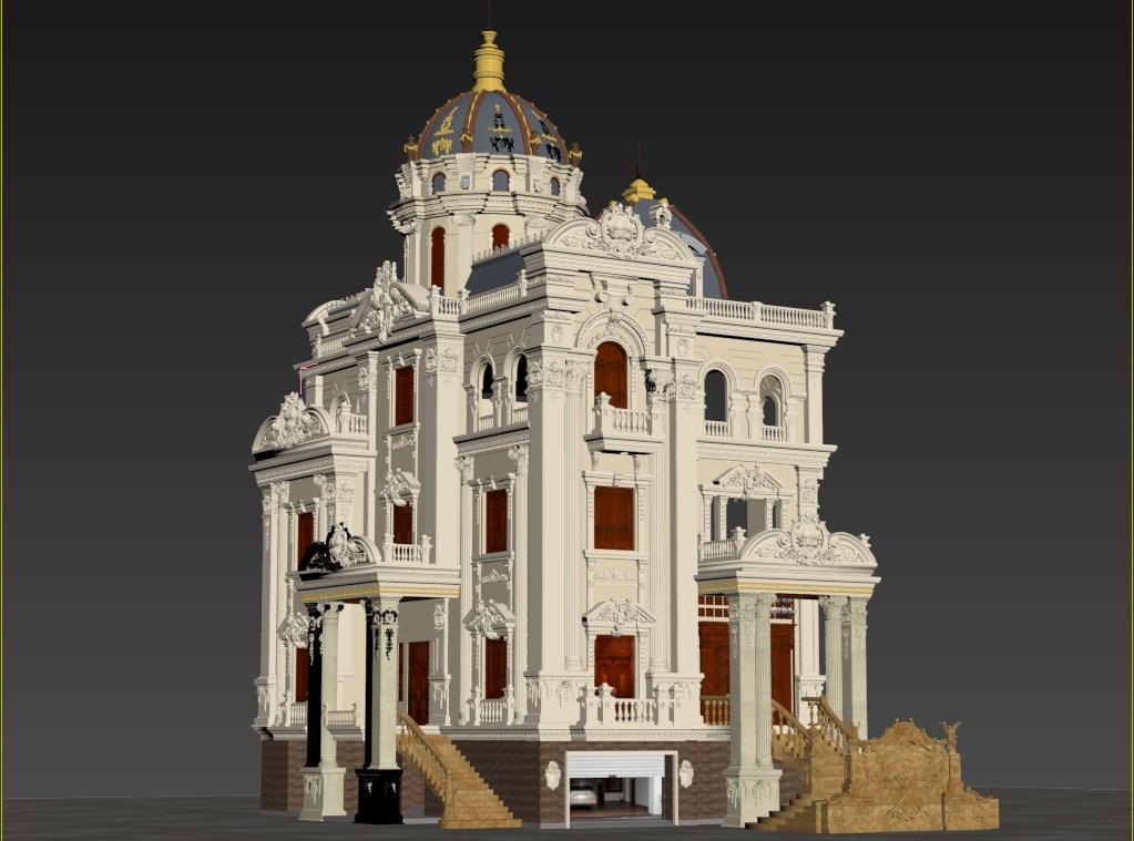 thiết kế biệt thự cổ điển 13 - Thiết kế biệt thự cổ điển đẹp