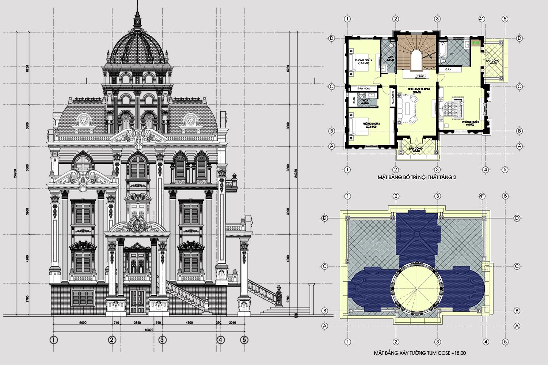 thiết kế biệt thự cổ điển 14 - Thiết kế biệt thự cổ điển đẹp